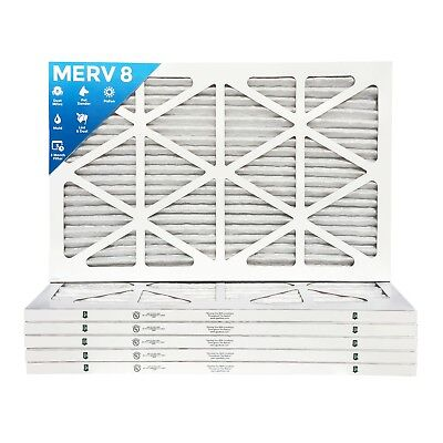 15x30x1 MERV 8 Pleated AC Furnace Air Filters.    6 Pack / $7.94 each