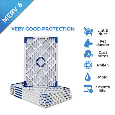 12x16x1 MERV 8 Pleated AC Furnace Air Filters.    6 Pack / $5.99 each