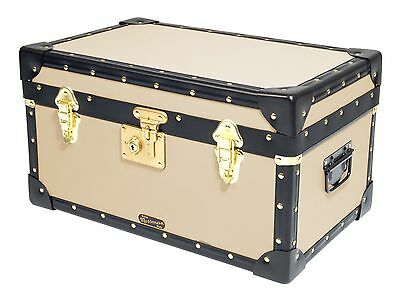 CREAM Traditional British Mossman Made Boarding School Tuck Box Storage Trunk