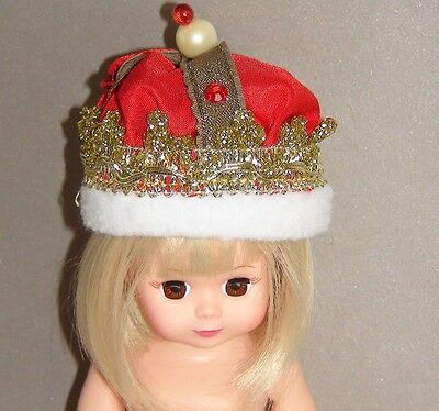"""Madame Alexander Tagged Wonderful Crown dress hat for 8"""" doll outfit no doll"""