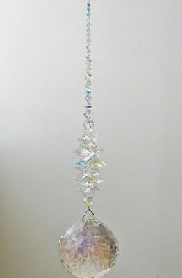 Made With HUGE 70mm Swarovski Crystal AB Ball Suncatcher, Substantial Gift Idea