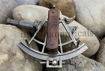 "Nautical Sextant 8"" Ship Instrument Rare Astrolabe Solid Brass Collectible Decor"