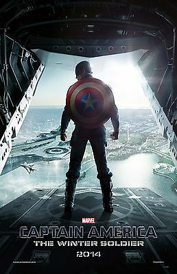 CAPTAIN AMERICA JUMPIN OFF 11x17 MINI MOVIE POSTER COLLECTIBLE