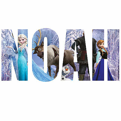 Frozen Personalised Name Text Childrens Kids Wall Sticker Wall Art Vinyl