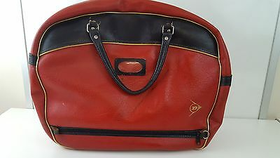 VINTAGE STYLE DUNLOP HOLDALL / SPORTS / WEEKEND BAG - RED - 51cm WIDE 41m HIGH