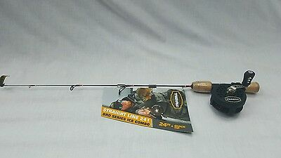 "New Frabill 6851 Straightline 241 Bro Series Ice Combo 24"" Quick Tip Rod Reel"