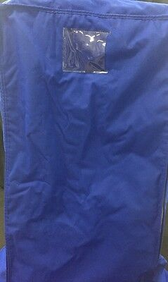 "BERNER Food Safety Insulated Bakery Rack Cover 23""Wx28""Dx62""H Blue w/Bottom Pad"