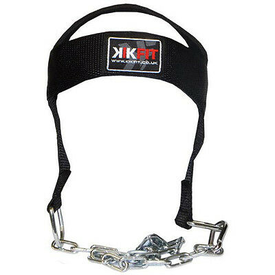 KIKFIT Head Harness Neck Strength Exercise Gym Weight Lifting Dipping Belt Chain