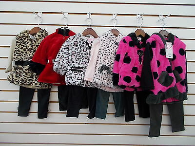 Infant & Toddler Girls Sweet & Soft $58 3pc Faux Fur Sets Size 6/9 Months - 3T