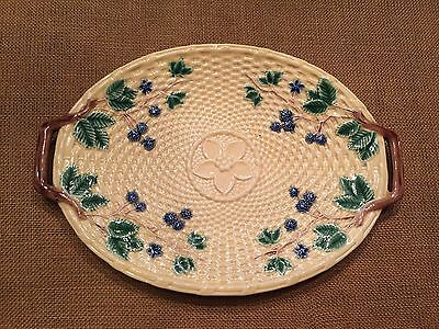 Tiffany Blackberry Tray Plate Majolica Style Made In Portugal