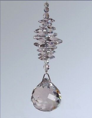40mm Crystal Ball Suncatcher - made with Swarovski Crystal Octagons & Beads