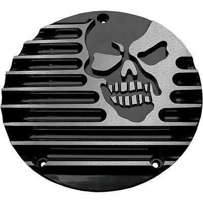 Covingtons Black Machine Head Derby Cover for 1999-2017 Harley Big Twin Models