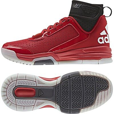 Children's Adidas Dual Threat BB J Red Basketball Athletic Shoes D69811 Sz 6-7