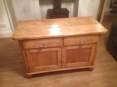 antique pine sideboard / Victorian Pine/ Farmhouse Sideboard