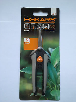 Fiskars - Soft Touch Micro Tip Pruning Scissors, L/R Handed
