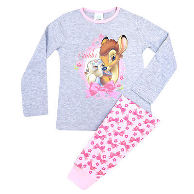 GIRLS Disney BAMBI Cotton Pyjamas Long PJ Set Nightwear Sleepwear