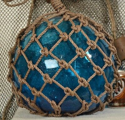 Vintage Japanese Aqua Glass With A Blue Tint Fishing Float