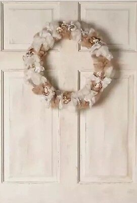 NEW Anthropologie Wool Cotton Melange Wreath Christmas Holiday Winter