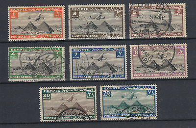 Egypt 1933 Air Handley Page H.P.42 over Pyramids Used Hinged No Gum (#1537)