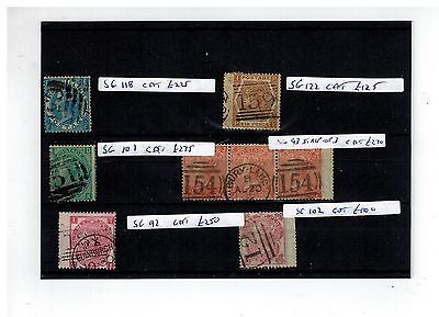 Collection Early Used Victoria Stamps Sg Cat £1245