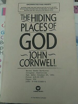 The Hiding Places of God by John Cornwell UNCORRECTED PAGE PROOFS PROMO 1st Edit
