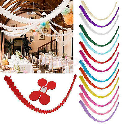1pc 3m Paper Garland Bunting Banner Birthday Wedding Party for Hanging Decor New