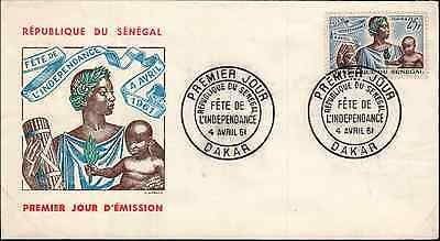 INDEPENDENCE Republic of Senegal (1961) No Address - First Day Cover *RARE*