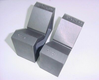 """One Pair Moore & Wright Matched Set #212 Vee-Blocks, 3.150"""" Capacity."""