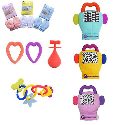 Gummee Glove Link & Teethe Molar Mallet Anti Scratch Mitts Baby teething Mittens