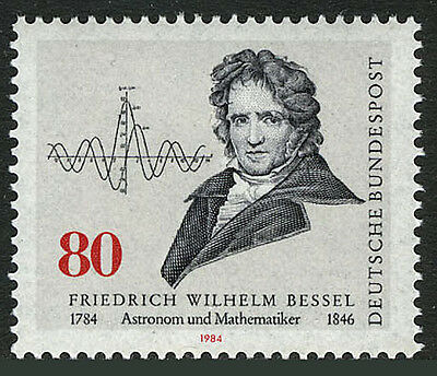 Germany 1422, MNH. Friedrich Wilhelm Bessel, Astronomer. Function Diagram, 1984