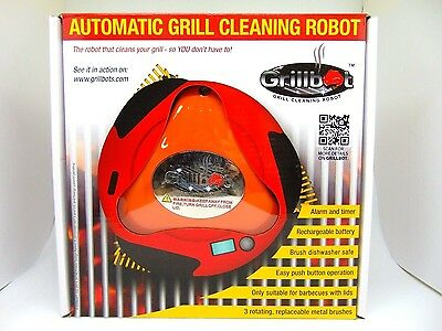 Grillbot Automatic Grill Cleaning Robot Orange Brand NEW & Sealed!!