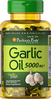 Puritan's Pride Garlic Oil 5000 mg - 250 Rapid Release Softgels