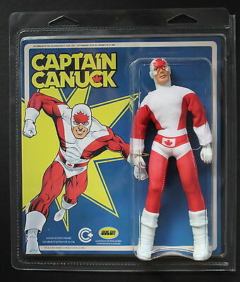 """CAPTAIN CANUCK 8"""" Action Figure 2014 Richard Comely ODEON TOYS Brand New MOC"""