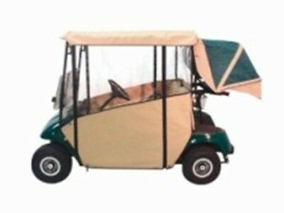 Demo Tan Only Ezgo Golf Cart 3-Sided Txt Custom Fit Over The Top Enclosure