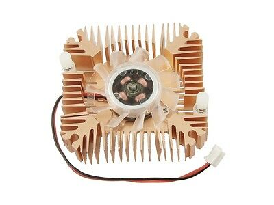 2 Pin 6cm 60mm Square Copper Tone Video Graphics VGA Cooler Cooling Fan Heatsink