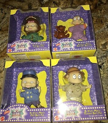 NEW NRFB- Lot Of 4 RUGRATS Movie Soft Pals- Phil, Tommy, Baby Dil & Lil