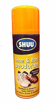 Shoe & Boot Deodorant Spray For Shoes Boots & Trainers Shuu Neutralises Odour