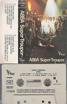 ABBA - Super Trouper ★ MC Musikkassette Cassette *Vogue France