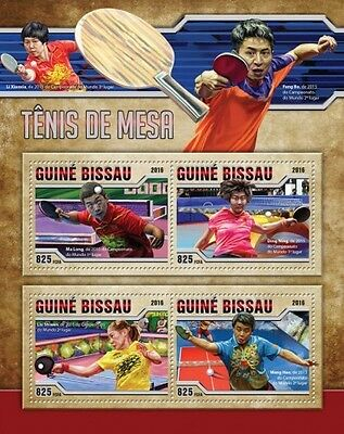 Z08 GB16505a GUINEA-BISSAU 2016 Table Tennis MNH