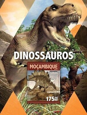 Z08 IMPERFORATED MOZ16116b MOZAMBIQUE 2016 Dinosaurs MNH