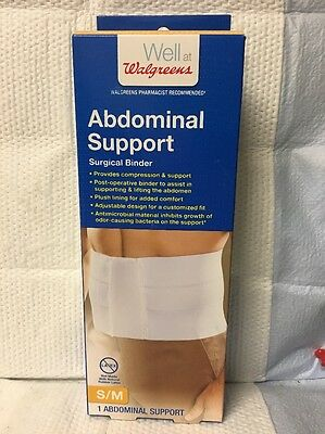 Abdominal Support Surgical Binder - Provides Compression And Support Size S/m