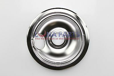 "GE General Electric Stove Range Cooktop 6"" Burner Chrome Drip Bowl WB32X5090"