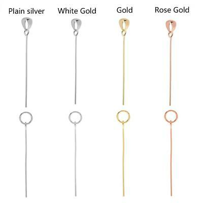 Silver & Gold Pendant Clasp Connector Bar Jewelry Findings Necklace DIY