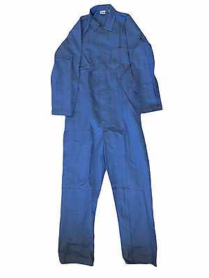 100% Cotton Coveralls Snap Closure Work Uniform Postman Blue Size 42 / 44-LN #T