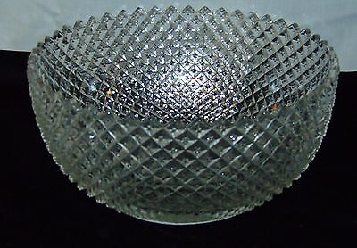"Anchor Hocking MISS AMERICA CRYSTAL *8 3/4"" STRAIGHT DEEP BOWL*"