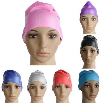 Waterproof Silicone Swimming Cap for Adults Long Thick Curly Hair Bathing Cap