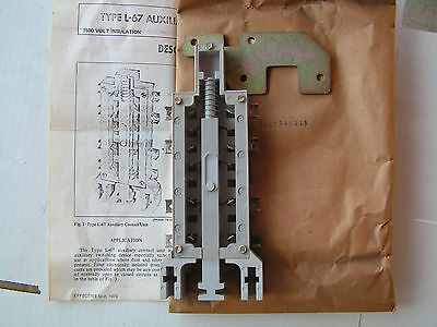 Westinghouse Cutler-Hammer 2087A40G13 Auxiliary Contact Type L-67 NEW!!!