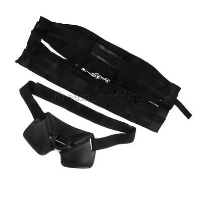 Big Fish Sea Fishing Adjustable Fighting Belt Waist Rod Holder Harness Black