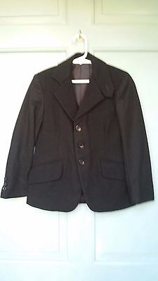 Child's Black Wool Riding English Show Coat Brittany Equestrain