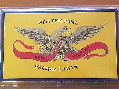 SUPPORT OUR TROOPS WELCOME HOME WARRIOR CITIZEN MILITARY NEW 3X5 ft FLAG